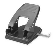 Industrial Grade 2WFT7 Paper Punch, 2-Hole, Blk, 30 Sheet