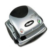 ~:~ ACCO BRANDS ~:~ 20-Sheet Easy View Two-Hole Punch, 0.7cm Holes, Plastic, Black/Silver