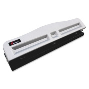 Skilcraft Light-duty Metal Hole Punch - 3 Punch Head[s] - 11 Sheet Capacity - 9/32 - Black Metallic