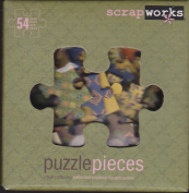ScrapWorks cb101 Kit 54 Citrus Collection Chip Board Puzzle Pieces + 58 Colour Alphabet Rubz Rub-ons