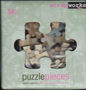 ScrapWorks cb103 Kit 54 Seaside Collection Chip Board Puzzle Pieces + 58 Colour Alphabet Rubz Rub-ons