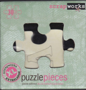 ScrapWorks cb203 - 30 Extra Large Alphabet Seaside Chip Board Puzzle Pieces