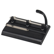 Master Adjustable 32-Sheet 3-Hole Punch, 0.9cm Punch Heads for Convenient 2 or 3-Hole Punching, Black