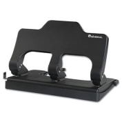 Universal Power Assist Three-Hole Punch - 30-Sheet Three-Hole Power Assist Punch, Black