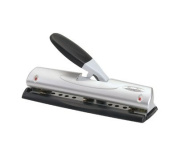 Swingline EasyView LightTouch Adjustable High Capacity Punch,2 to 7 hole punches with purchase of additional punch heads (3 included), 20 Sheet Capacity, Black