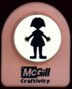 McGill Craftivity Giant Punch Paperdoll Girl 3.2cm F92900 Perfect for Birthday Invitation Accents