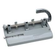 Adjustable Heavy-Duty Three-Hole Punch, 13/32 Diameter Hole, Grey, GSA 7520002633425
