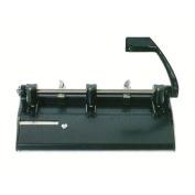 Skilcraft NSN4316251 Adjustable 3-Hole Punch, Heavy-Duty, 33cm - 80cm . Holes, Black