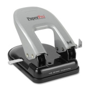 Wholesale CASE of 10 - Accentra Traditional 2-hole Punch-2-Hole Punch, Traditional, 40 Sheet Cap, Black/Silver