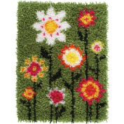 Wonderart Latch Hook Kit 38cm x 50cm -Pop Flowers