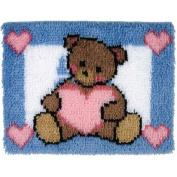 Wonderart Latch Hook Kit 38cm x 50cm -Heart Bear