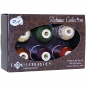 Robison-Anton Thimbleberries 6-Pack Cotton Thread Collection, Autumn