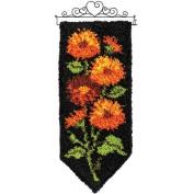 Craftways Fall Chrysanthemums Latch Hook Kit
