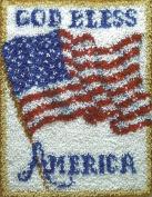 Latch Hook Kit ( 50cm X 70cm ) - God Bless America