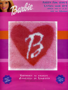 Caron BBooo1 Fuzzy Fun Heart Latch Hook Kit 13 X 13 Barbie