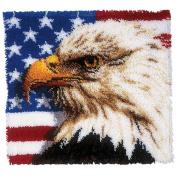 Craftways American Eagle Latch Hook Kit