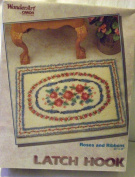 Wonder Art 4375 Roses and Ribbons Latch Hook Rug Kit