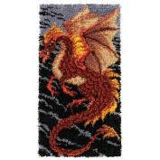 Craftways Storm Dragon Rug Latch Hook Kit