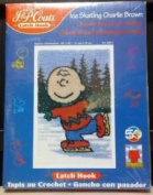 Ice Skating Charlie Brown Latch Hook Kit