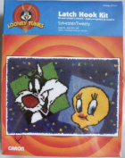 Looney Tunes Sylvester/Tweety Latch Hook Kit 50cm x 80cm Made in USA!