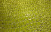 SHINY LIME PATENT FAUX LEATHER FABRIC EMBOSSED CROCODILE