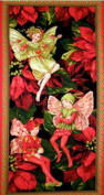 Michael Miller 'Holiday Fairies' Christmas Cotton Fabric Panel
