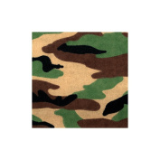 A E Nathan Basic Flannel Print 2.5cm Wide 100% Cotton 15 Yards D/R-Traditional Camo/Green