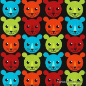 Roar Lion Cubs Bright Fabric