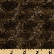 Minky Rosebud Mocha Fabric By The YD