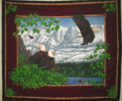 Eagle Overlook Wall Hanging by General Fabrics - 100% Cotton, Panel