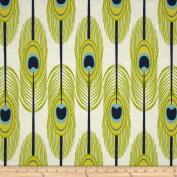 Premier Prints Feathers Slub Canal Fabric