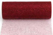 Kel-Toy Glitter Tulle Fabric, 15cm by 10-Yard, Wine