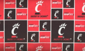 University of Cincinnati By Sykel - 100% Cotton 110cm Wide By the Yard