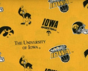 University of Iowa By Sykel- 100% Cotton 110cm Wide By the Yard