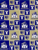 Brigham Young University By Sykel - 100% Cotton 110cm Wide By the Yard