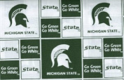 Michigan State By Sykel -100% Cotton 110cm Wide By the Yard