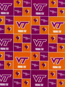 Virginia Tech By Sykel - 100% Cotton 110cm Wide By the Yard
