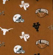 University of Texas By Sykel- 100% Cotton, 110cm Wide By the Yard