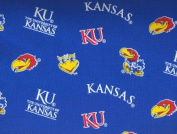 University of Kansas By Sykel- 100% Cotton, 110cm Wide By the Yard