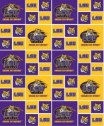 Louisianna State University By Sykel- 100% Cotton 110cm Wide By the Yard