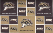 Western Michigan University By Sykel - 100% Cotton, 110cm Wide By the Yard