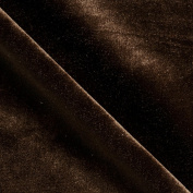 Stretch Velvet Brown Fabric