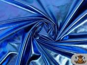 Spandex METALLIC ROYAL BLUE Fabric / 150cm W / Sold by The Yard