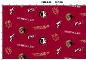 Florida State University Fine Cotton Classic Coloured Ground Allover
