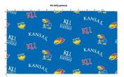 University of Kansas Fine Cotton Classic Coloured Ground Allover