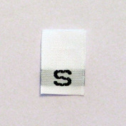Size S (Small) Woven Clothing Size Tags