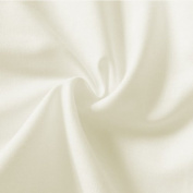 Plain Cream-White 100% Cotton Fabric 150cm wide per metre