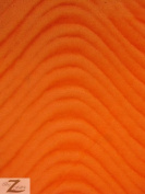 WAVY/WAVE VELVET FLOCKING UPHOLSTERY FABRIC - Orange - 150cm /150cm WIDTH - SOLD BY THE YARD