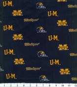 NCAA Cotton Fabric-Michigan Herringbone