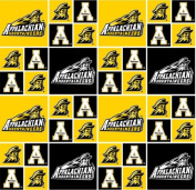 Cotton Appalachian App State Yosef University College Team Sports Cotton Fabric Print By the Yard